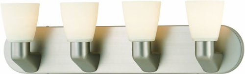 Lite Source LS-16834SS/FROLite Source Taza 4-Lite Vanity Wall Lamp, Satin Steel