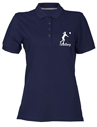 Polo Donna Blu Navy OLDENG00335 I Volley