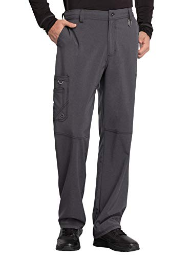 Cherokee Infinity CK200A Men's Fly Front Cargo Pant Heather Charcoal XL - Heather Front
