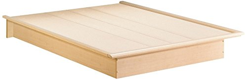 contemporary maple finish platform bed