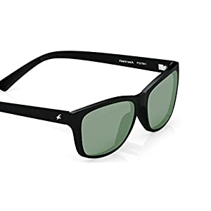 Fastrack UV protected Square Men's Sunglasses (P357BK1|41 millimeters|Smoke (Grey/Black))