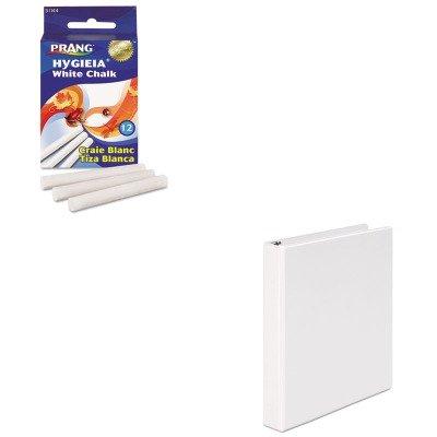 (KITDIX31144UNV20962 - Value Kit - Prang Hygieia Dustless Board Chalk (DIX31144) and Universal Round Ring Economy Vinyl View Binder (UNV20962))