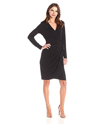 Lark & Ro Women's Long Sleeve Wrap Dress
