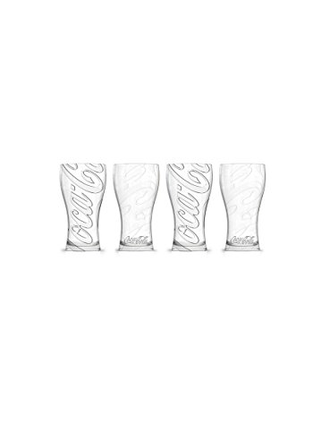(Coca-Cola - Superscript Affinity Fountain Glasses: Set of 4)