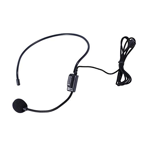 N/V Professional First Vocal Wired Headset Microphone microfono For Voice Amplifier Speaker with 3.5mm Jack(Black)