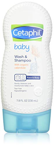 Cetaphil Baby Wash and Shampoo with Organic Calendula, 7.8 Ounce (Pack of 2) -