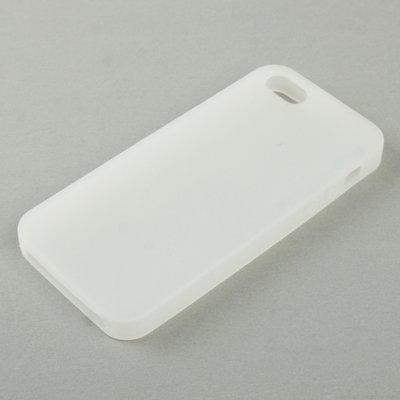 gada - Handyhülle für Apple iPhone 5 5S 5G - Hochwertiges Silikoncase weiß/transparent