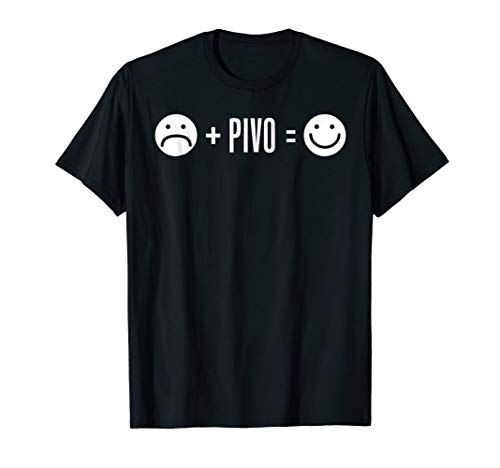 (Sad Face Plus Pivo Equals Happy Czech Republic Beer Shirt)
