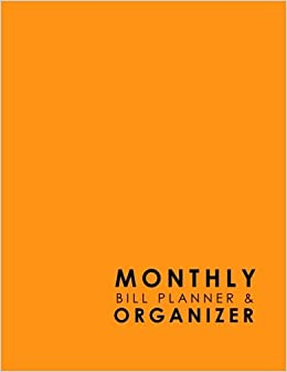 monthly bill planner organizer bill paying book organizer
