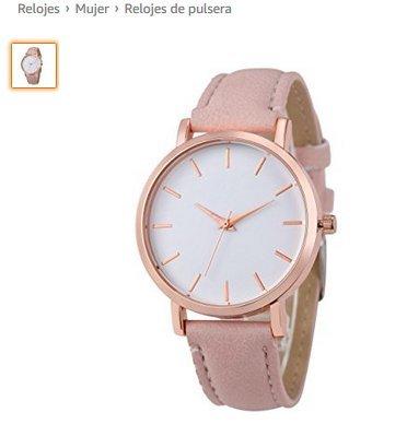 Mio.oo Reloj de Cuarzo Reloj de Cuero para Mujer Rosa * 1
