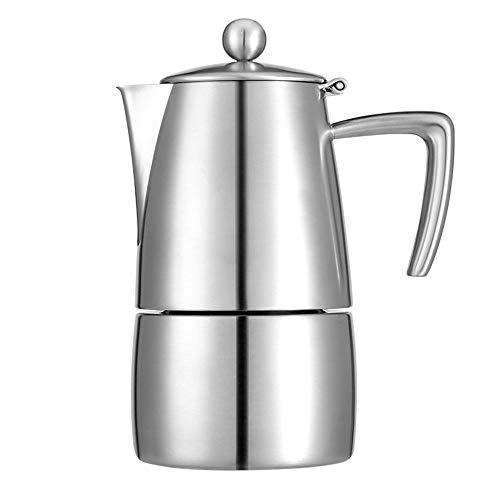 ZHHAOXINPA Portátil Cafetera Italiana, Cafetera espressos en Acero Inoxidable, Cafetera Moka Clásica, Hace 6 Tazas de…