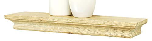 "kieragrace  Boston Wall Shelf, 16"" , Natural Wood, Pale Natural Wood - Decorative wall ledge Overall size: 1.25x16x4"" Ready to hang; hanging hardware and instructions included - wall-shelves, living-room-furniture, living-room - 31JK3SVbpZL -"