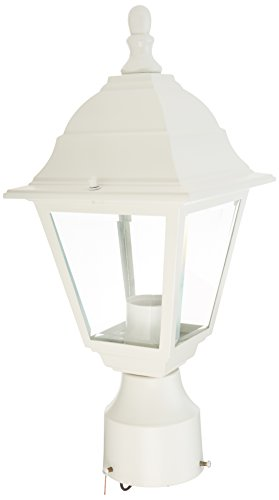 Nuvo 60/546 Post Lantern with Clear Glass, White