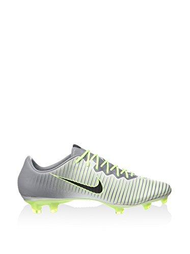 Nike Herren Mercurial Vapor Xi Fg Fußballschuhe Plateado (Pure Platinum / Black-Ghost Green)