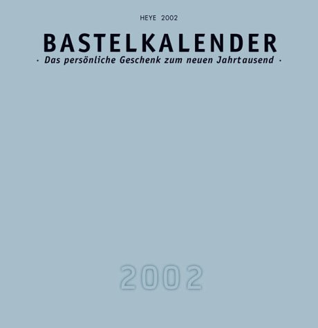 Kalender, Bastelkalender, silber' (schwarz m. silbernem Deckbl.), Format 33 x 32 cm (Millenium)