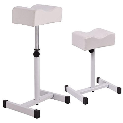 Simply Silver - Adjustable Pedicure - White Adjustable Pedicure Manicure Technician Nail Footrest Salon Spa Equipment by Simply Silver