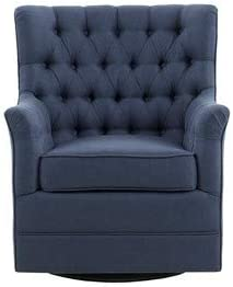 Madison Park Traditional Mathis Swivel Glider Chair with Blue Finish MP103-0935