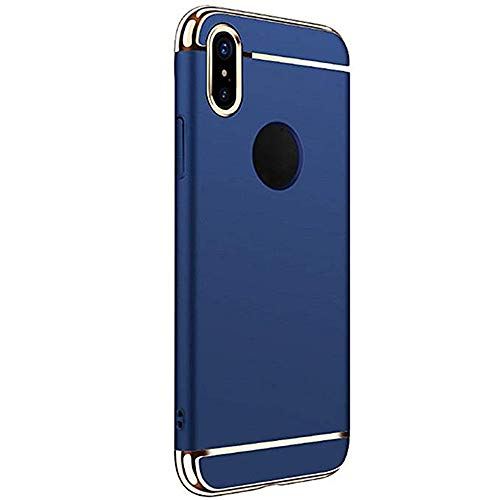 Reader Digital Book Cover - Wenjuan Phone Case,Protective Luxury Thin Electroplate Plating Three-Section Hard Case Cover 6.1Inch\6.5Inch\5.8 Inch for Apple iPhone XR\ XS Max\XS (6.1Ich for iPhone XR, Blue)