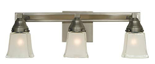 Framburg 3-Light Satin Pewter/Polished Nickel Mercer Sconce (Framburg Lamp Outdoor)