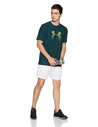 Under Camiseta Verde Armour Manga Hombre De Corta qaPUrq
