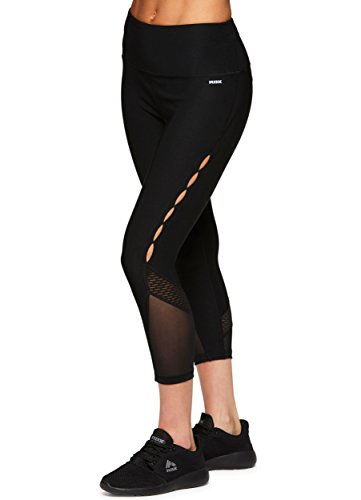 RBX Active Women's Yoga Workout Leggings Yoga Combos Black (Black Combo Apparel)