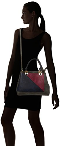 Cabas Color Grey dark Swankyswans Gris Violet Handbag Block nqx1Cz