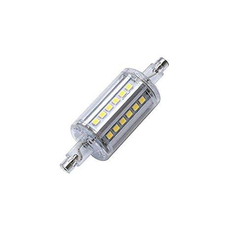 Bombilla LED R7S, 5W, 36xSMD2835, 360º, 78mm. Encapsulado de cristal, Blanco neutro: Amazon.es: Iluminación