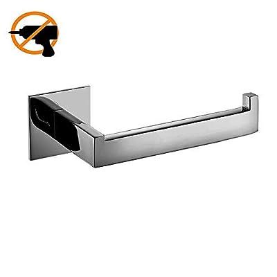 HomeT Stainless Steel Toilet Paper Holder Self Adhesive Toilet Paper Holder Rack in Bathroom,No Screw Need