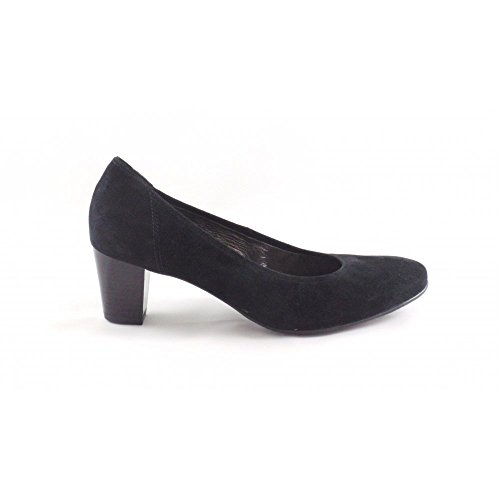 Ara Toulouse 12-43424 Black Suede Court Schuhe