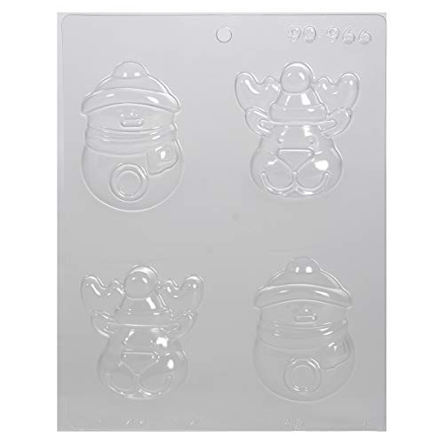 CK Products Reindeer and Snowman Decorating Chocolate Mold, 9.5