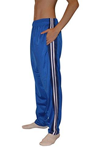 AllPro Men's AP Path Warm-Up Pants Track Pants Open Bottom (Large, Sapphire Blue-White S8800)