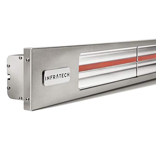 - Infratech SL1612SV Slim Line - Single Element 1,600 Watt Patio Heater, Choose Finish: Stainless Steel Faceplate w/Silver Trim