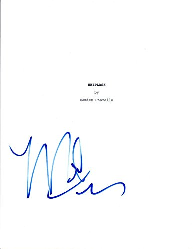Miles Teller Signed Autographed WHIPLASH Movie Script COA VD