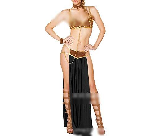 Joyhul Great Style Ladies Sexy Nightdress Cosplay Arabian Sexy Lingerie Halloween Dress,XX-Large,BlackDress