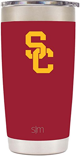 Simple Modern 20oz Cruiser Tumbler - USC Trojans Vacuum Insulated 18/8 Stainless Steel Tailgating Cup Travel Mug - USC (Mug Usc)