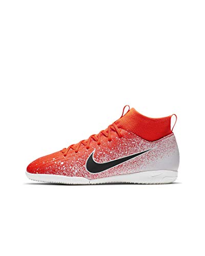 Nike JR Mercurial SuperflyX 6 Academy GS IC Soccer Shoes (Hyper Crimson) (3.5Y) ()