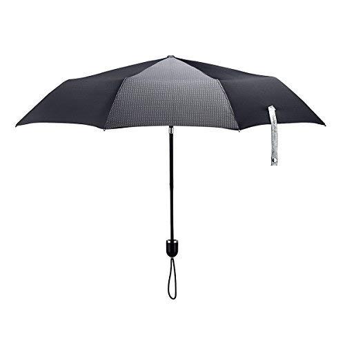 ShedRain Stratus Collection Compact Manual Umbrella - Glossy Piano Black Grip