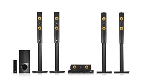 LG LHA855W 5.1 3D Blu-ray Heimkinosystem (1200 Watt, kabellose Rücklautsprecher, WLAN, Smart TV, DLNA, Bluetooth, 1080p Upscaling) schwarz