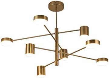 Mid-Century Tree Branch Chandelier, Sputnik DNA Molecule Adjustable Arm During Light,Post-Modern Hanging Lamp Semi Flush Mount Ceiling Light Fixture Creative Pendent Lighting-p-Gold L-8-light