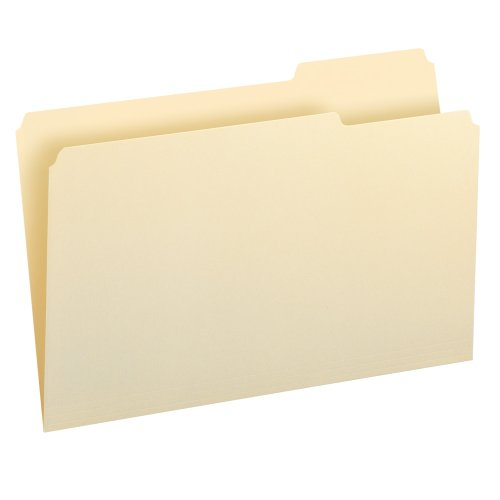 (Smead File Folder, 1/3-Cut Tab Right Position, Legal Size, 100 Per Box (15333))