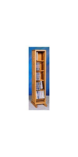 (Solid Oak Dowel Cabinet for CD's)