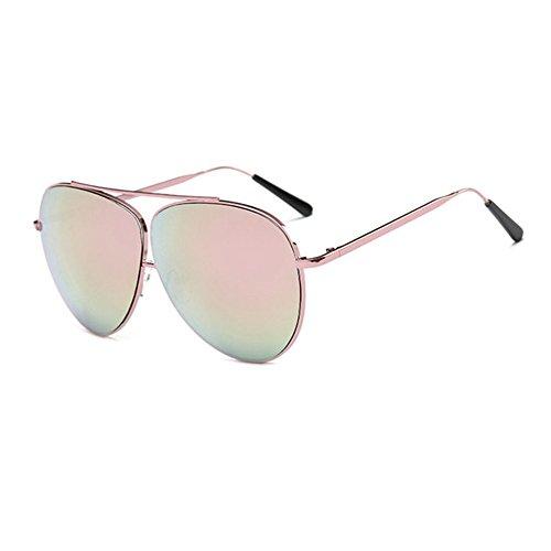 Aoligei Lunettes de soleil fashion Double armature de grandes lunettes de soleil lunettes mâle et femelle shing marée en métal HcJLU