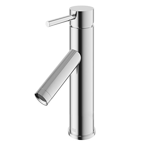 - VIGO VG01008CH Alicia Bathroom Faucet, Single-Hole Deck-Mount Lavatory Faucet with Plated Seven Layer Polished Chrome Finish