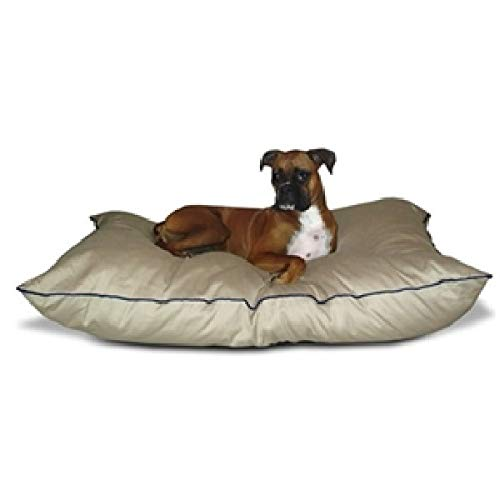 Svitlife Medium size Dog Bed Pillow in Khaki - Made in USA B