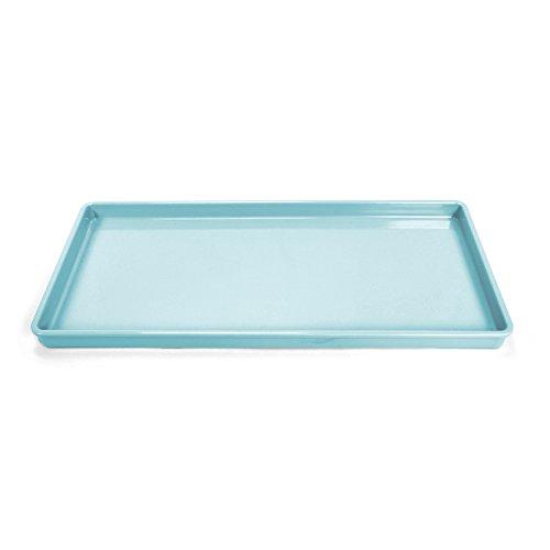Martha Stewart MSF0005B Feeding Pet Food Tray, 8.5'' x 18'' x 1'', Blue by Martha Stewart