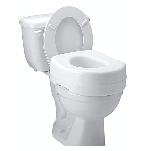 (Carex Toilet Seat Riser - Adds 5 Inches of Height to Toilet - Raised Toilet Seat With 300 Pound Weight Capacity - Slip-Resistant)