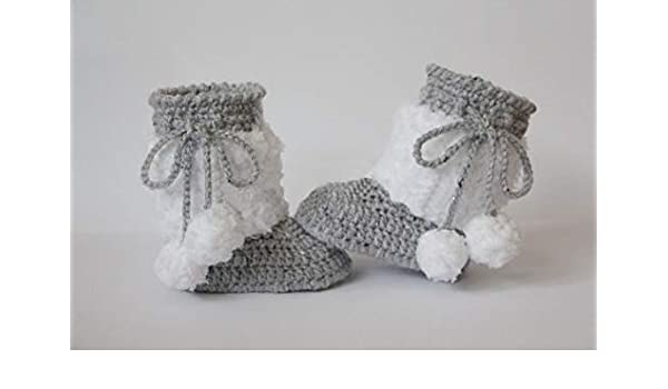 a6d67fccc9ad0 Amazon.com : LooBooShop Crochet Baby Booties, Baby Shoes, Boots ...