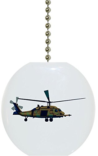 Military Helicopter Chopper Ceramic Fan Pull