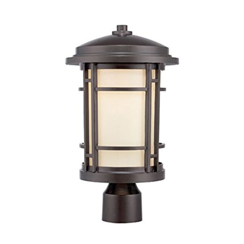 Designers Fountain LED22436-BNB Barrister 9'' LED Post Lantern by Designers Fountain