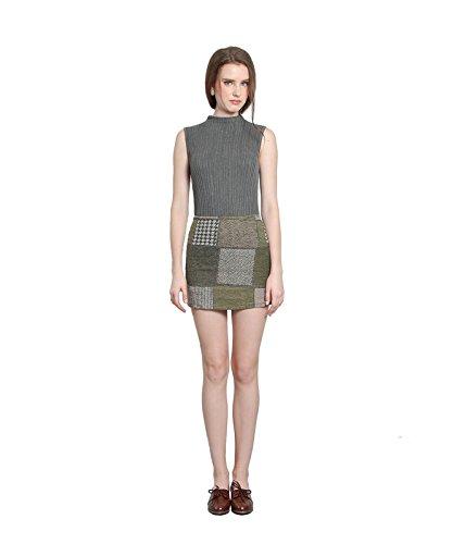 Velvet Patchwork Skirt - 7
